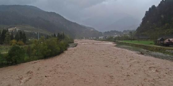 Il torrente Degano in Carnia