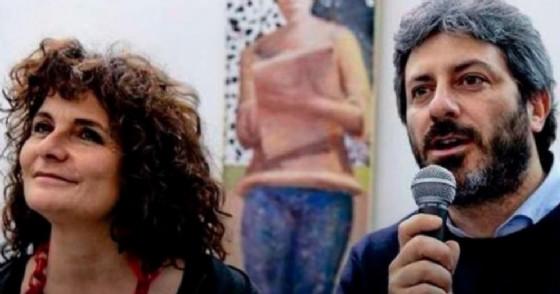 La senatrice Paola Nugnes con il presidente della Camera Roberto Fico