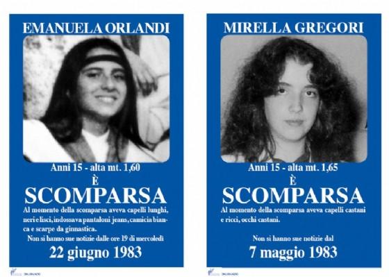 I manifesti che furono affissi in tutta Roma dopo la scomparsa di Emanuela Orlandi e di Mirella Gregori