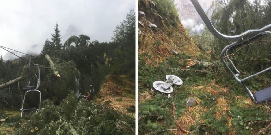 Alto Friuli, alcuni impianti di risalita devastati dal maltempo