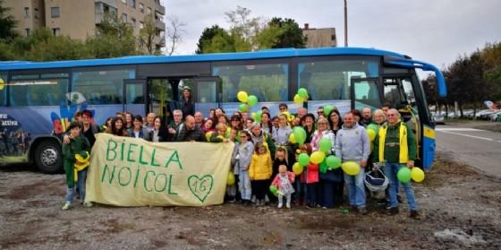 Al seguito di Edilnol Biella Rugby, un pullman pieno di tifosi gialloverdi a sostegno della squadra