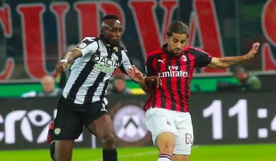 L'Udinese beffato dal Milan al 97': segna Romagnoli