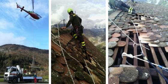 Gioco di squadra per riparare il tetto della Pieve di San Floriano