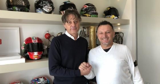 Fabrizio Peppi, fondatore e Ceo di FPS Automation, con Fausto Gresini