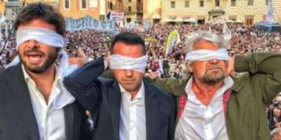 Alessandro Di Battista, Luigi Di Maio e Beppe Grillo