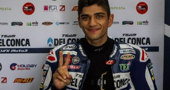 Il campione del mondo di Moto3 2018, Jorge Martin