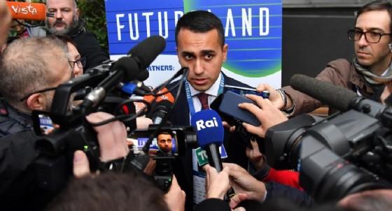 Il vicepresidente del Consiglio e ministro del Lavoro, Luigi Di Maio, all'arrivo a 'Futureland'