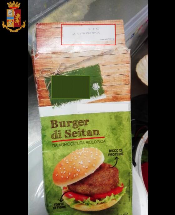 L'hamburger di seitan scaduto dall'aprile 2017