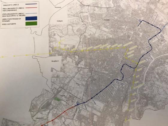Il tracciato della linea 2 della metropolitana