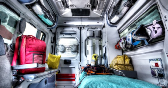 Interno di ambulanza - Immagine di repertorio