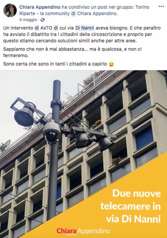 Il post di Chiara Appendino