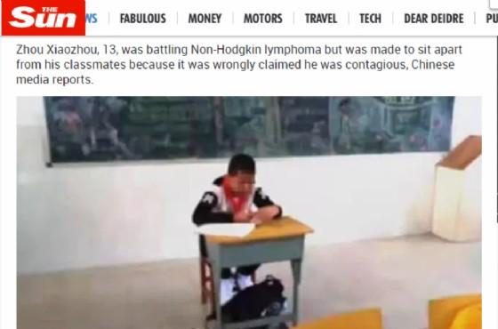 Ragazzo di 13 anni isolato dalla classe a causa del cancro