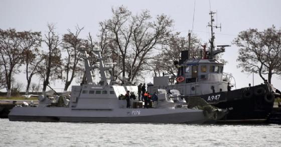 La nave ucraina catturata dalla Russia nel golfo di Kerch