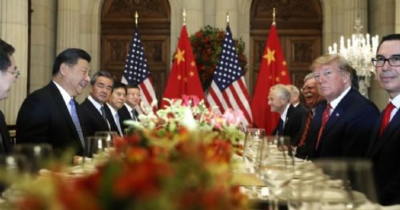 Il presidente Usa Donald Trump con quello cinese Xi Jinping