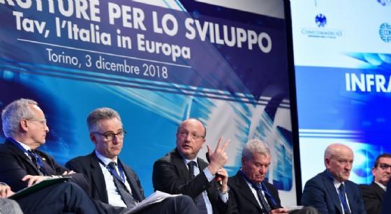 """Vincenzo Boccia, presidente Confindustria, durante la convention a Torino """"Infrastrutture per lo sviluppo: TAV, l'Italia in Europa"""""""