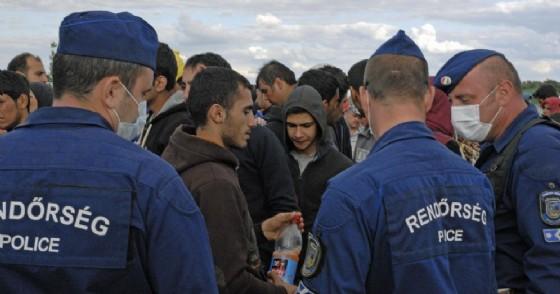 Migranti alla frontiera tra Serbia e Ungheria