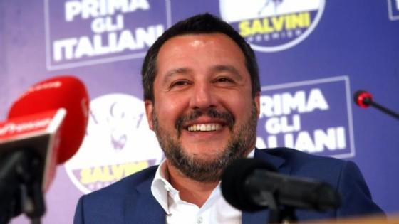 Un sorridente Matteo Salvini