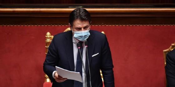 Il Presidente del Consiglio Giuseppe Conte al Senato