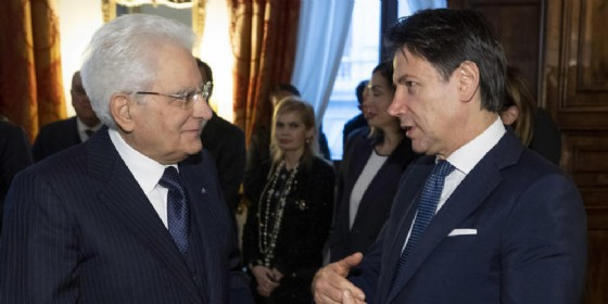 Il Presidente della Repubblica, Sergio Mattarella con il Premier Giuseppe Conte