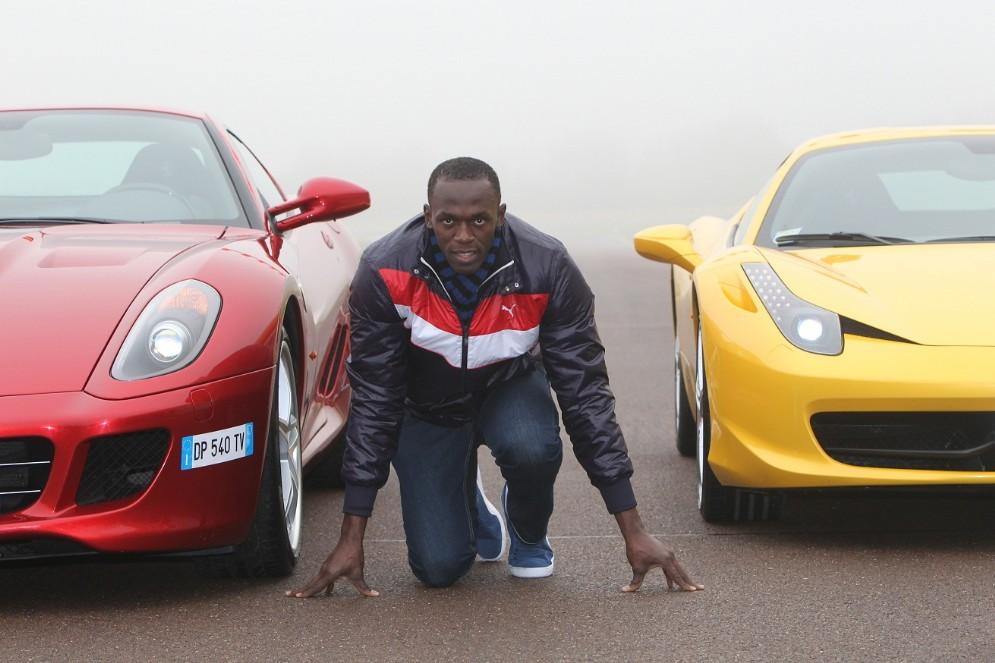 Usain Bolt va da 0 a 100 in meno di 10 secondi. Lo battono solo le sue Ferrari