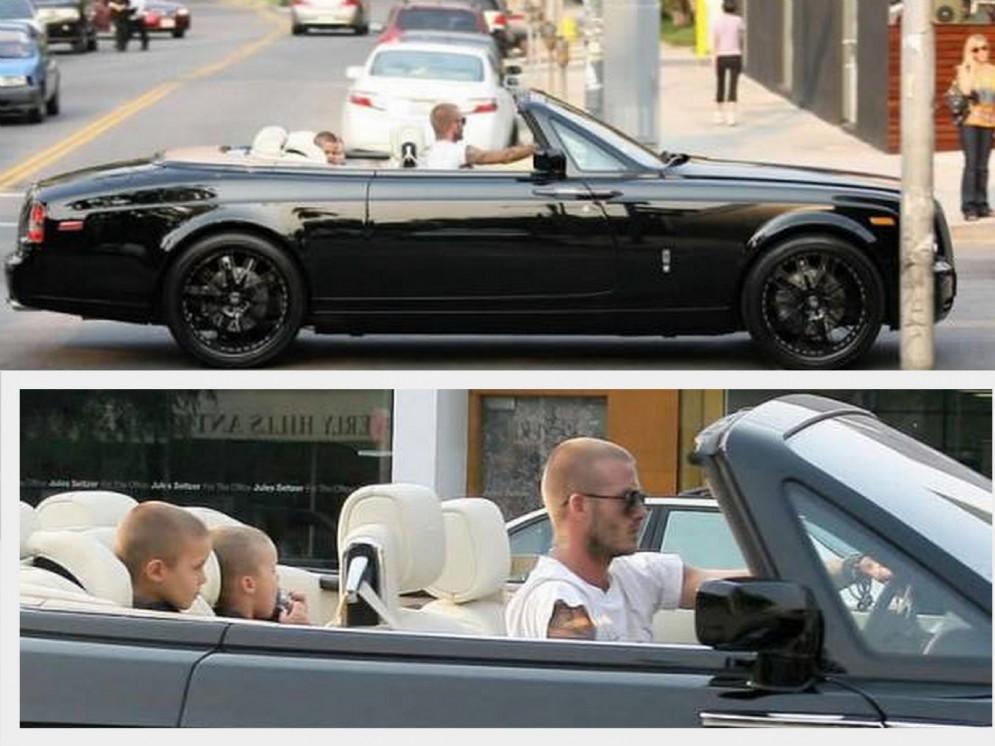 David Beckham invece porta i figli a scuola con questa Rolls Royce Phantom customizzata da 407.000 dollari