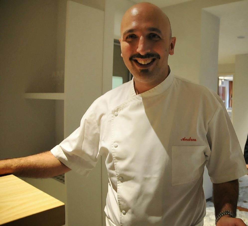 Lo chef Andrea Ribaldone