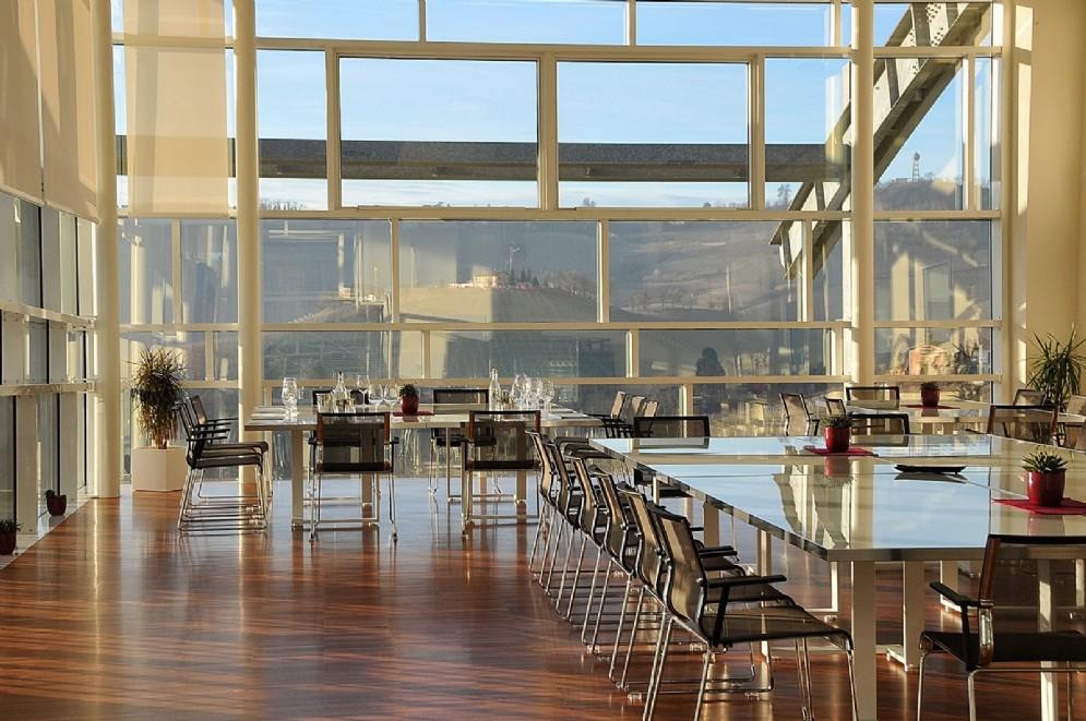 La panoramica sala degustazioni