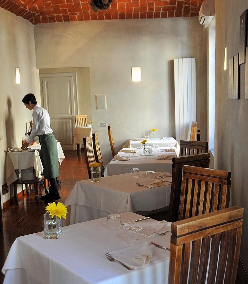 La saletta ristorante al piano superiore