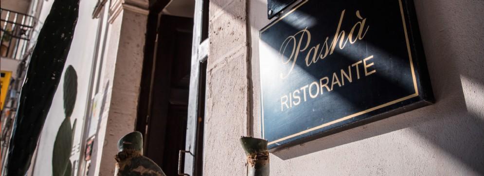 L'ingresso defilato del ristorante Pasha