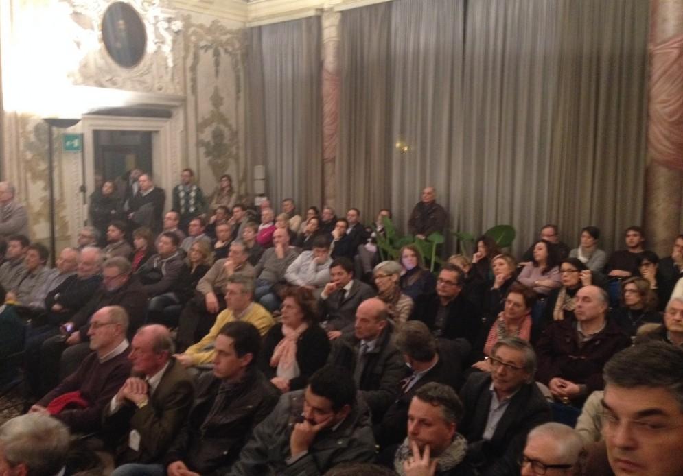 Gli amministratori presenti all'incontro organizzato a palazzo Belgrado