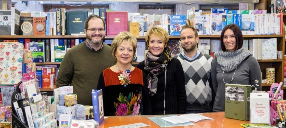 Lo staff della «Libreria Giovannacci»