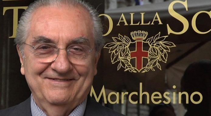 Gualtiero Marchesi al Marchesino di Milano, in Piazza della Scala