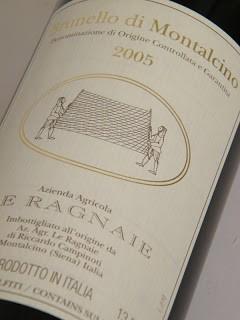 L'etichetta del Brunello di Montalcino 2005