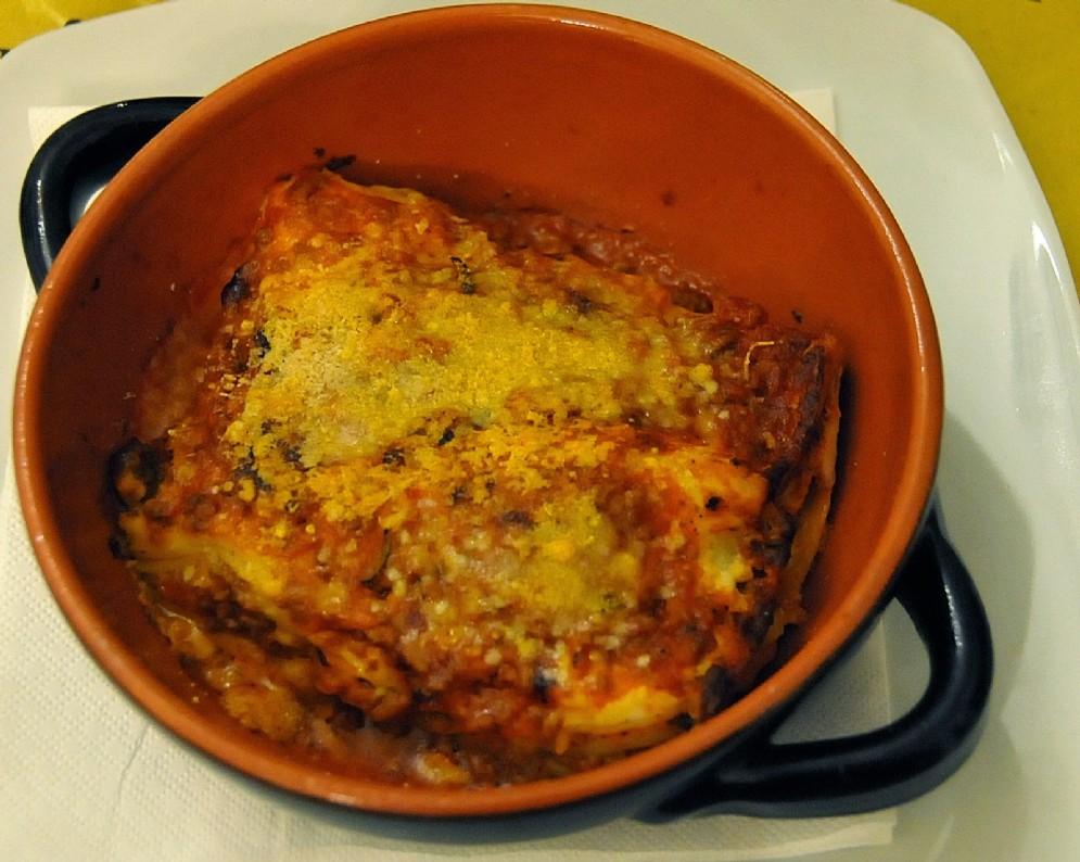 Ottime anche le lasagne gratinate