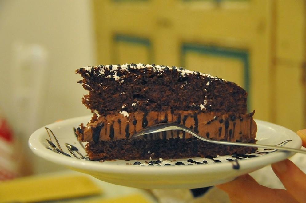 La torta al cioccolato, mascarpone e Nutella