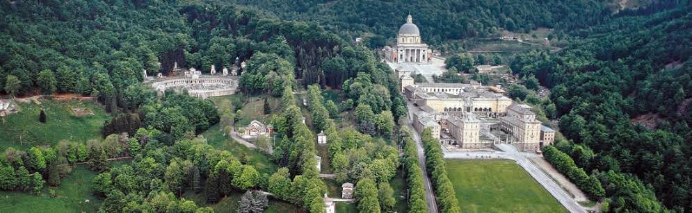 Vista d'insieme di Oropa e il suo Santuario