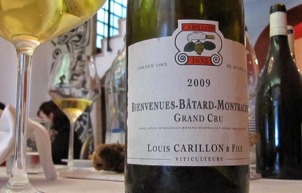 Bienvenues Batard Montrachet di Louis Carillon. Grande millesimo il 2009, ma purtroppo si tratta dell'ultima annata dsponibile