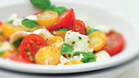 Ottima in un'insalata di pomodori