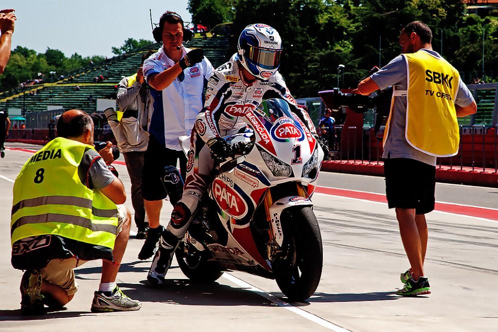 Il campione in carica Sylvain Guintoli, Honda (Foto: Micaela Naldi per DiariodelWeb.it)