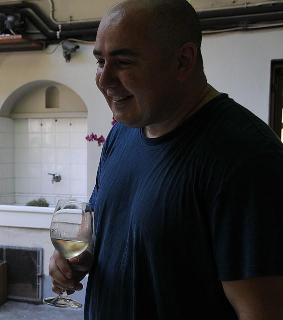 Un bicchiere con lo chef