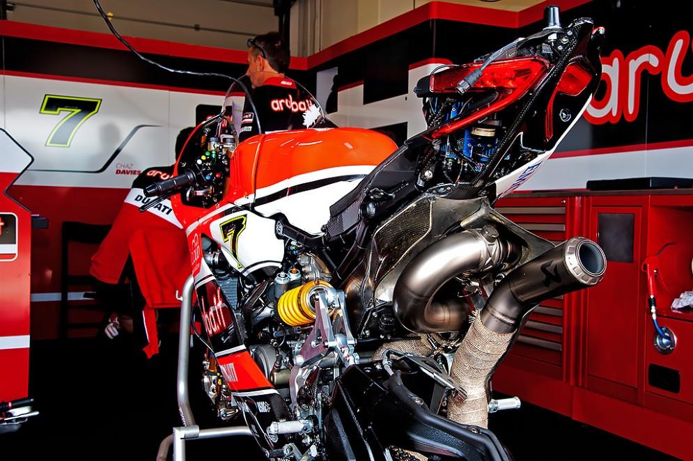 Il box Ducati (Foto: Andrea Bonora per DiariodelWeb.it)
