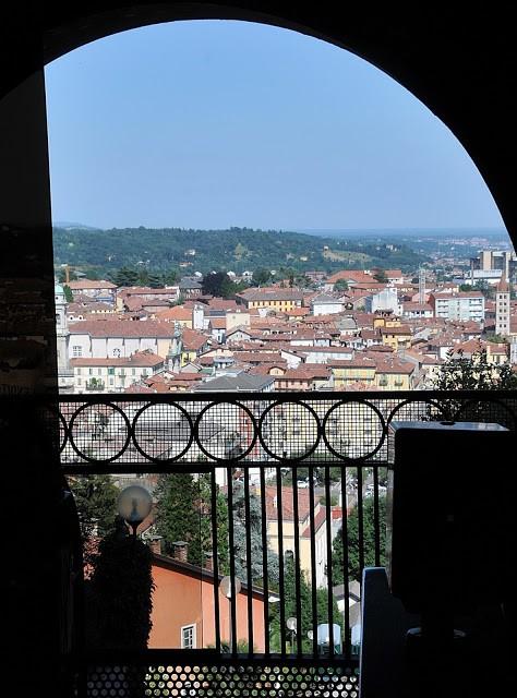 Biella, vista dall'arrivo della Funicolare