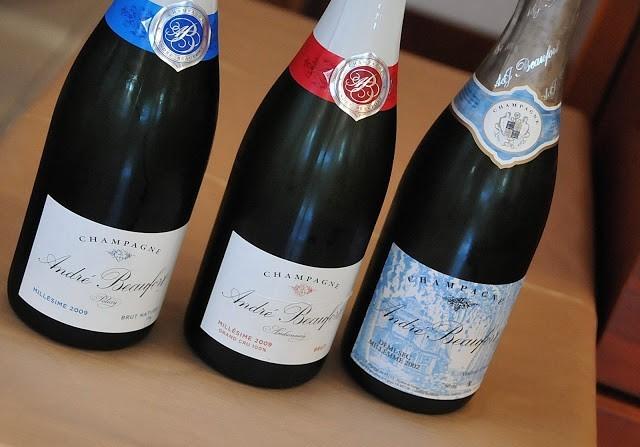 Alcuni tra gli Champagne André Beaufort in degustazione
