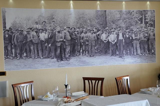 Uno scorcio di sala con una riproduzione storica della vita dei minatori della Valchiusella