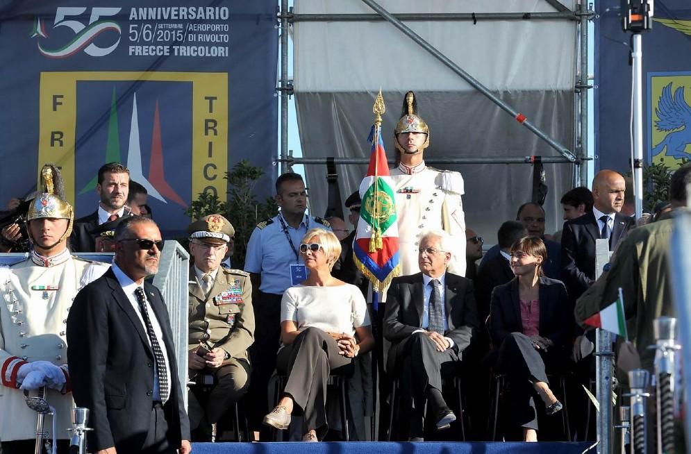 Ancora il presidente Mattarella con il ministro Pinotti