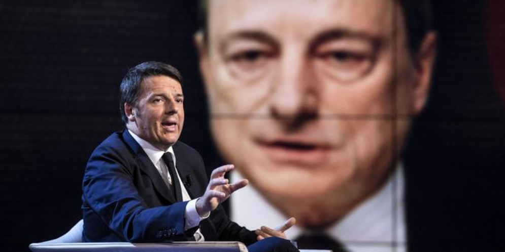 Matteo Renzi e Mario Draghi