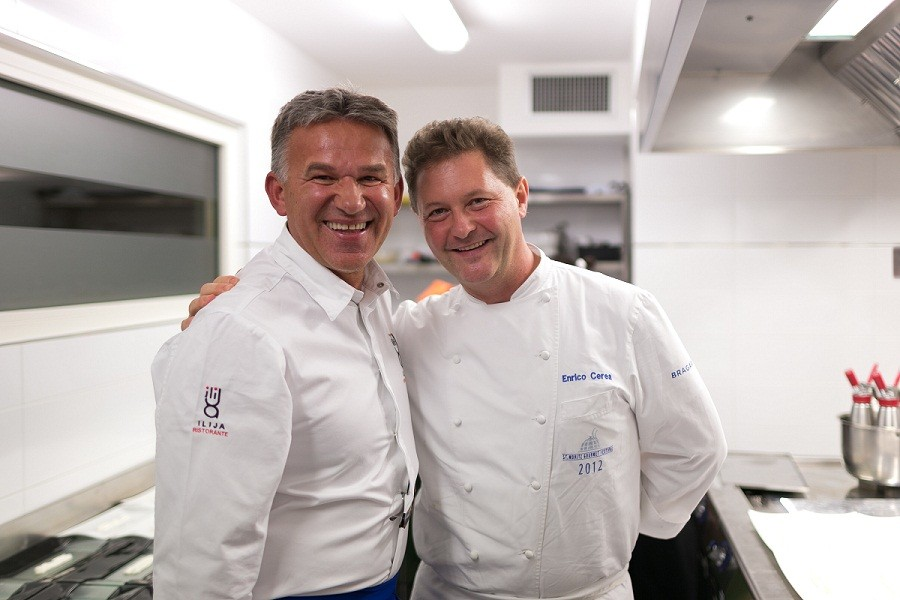 Chef Ilija Pejic & Chicco Cerea - credit Fabrice Gallina