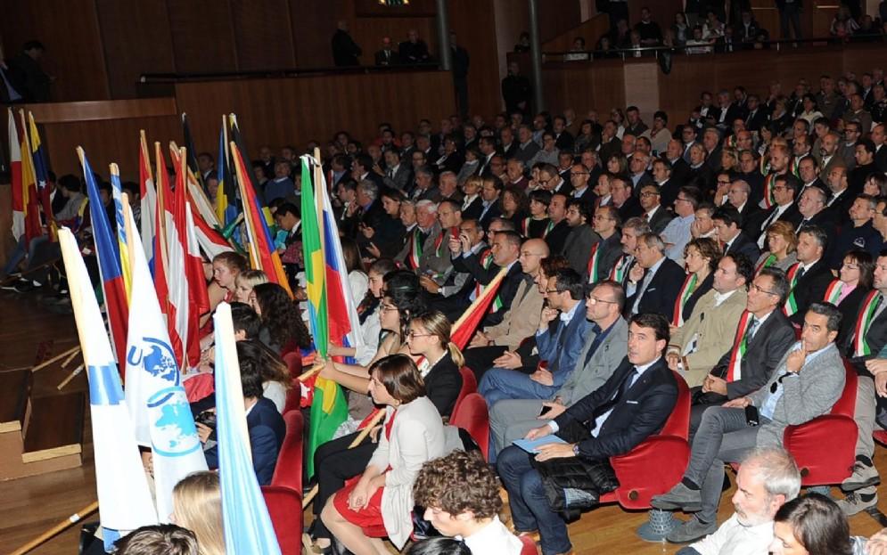 La platea del teatro Giovanni da Udine