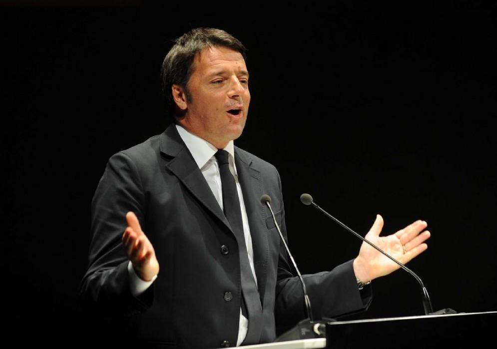 Un'altra immagine di Renzi a Udine