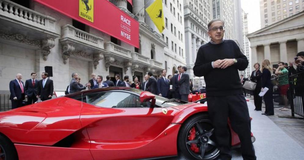 Sergio Marchionne a Wall Street per la quotazione in borsa della Ferrari